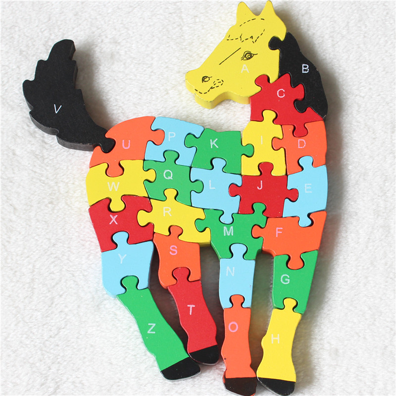 Horse Wood 3d puzzle Infanto Game,Brinquedos Educativos Wooden Horse Toy For Children,Early Educational Toys Wooden Horse Puzzle(China (Mainland))