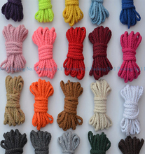 20pcs(dia.5mm x 2m)  Profusion Colour Pure Cotton Rope,Pro-environment Woven Cord/String DIY Accessories Drawstring Bags Craft(China (Mainland))