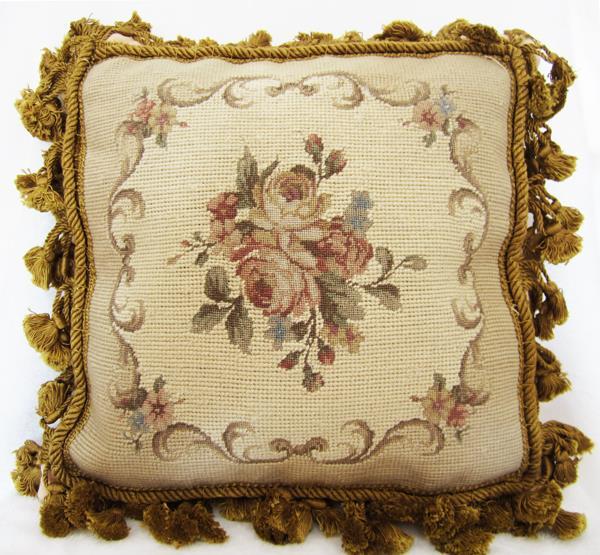 Needlepoint Pillows European High End Wool Hand Stitch