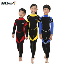 Hisea 2.5mm Neoprene Wetsuit Children Swimsuit Equipment For Diving Scuba Swimming Surfing Spearfishing Suit Triathlon Wetsuits(China (Mainland))