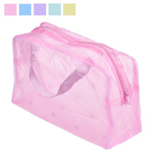 Floral Print Transparent Waterproof Makeup Make up Cosmetic Bag Travel Wash Toothbrush Pouch Toiletry Organizer Bag Tools Sac