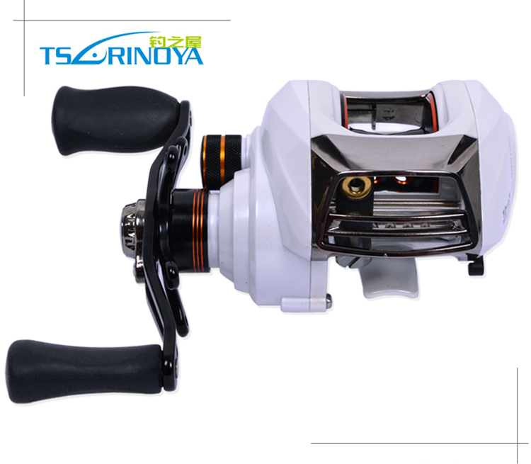 Trulinoya New Arrival 2014 Bait Casting Fishing Reel 11 Bearing Dual Cast Control Anti Backlash Salt Water Right Hand Baitcaster(China (Mainland))