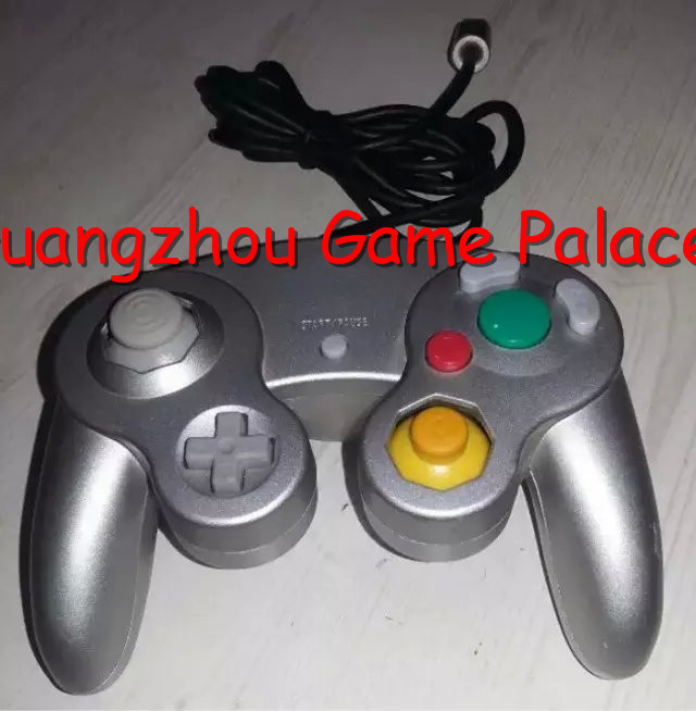 Wired Controller Gamepad Joystick Handheld For Nintendo Wii GameCube NGC Silver Free shipping(China (Mainland))