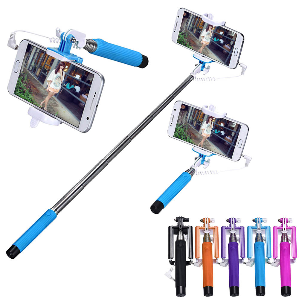 mini foldable stick tripod monopod wireless selfie stick extendable built in. Black Bedroom Furniture Sets. Home Design Ideas