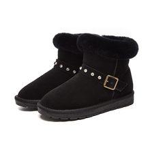 Kar botları kadın toka çizmeler ve kadife bayan botları pamuklu ayakkabılar sıcak botlar H-608(China)