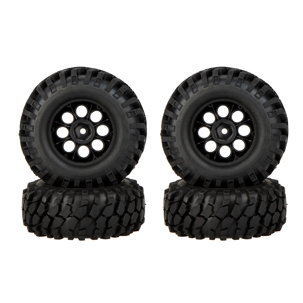 4Pcs 1/10 Climber Off-road Car Wheel Rim and Tire 260001 with Metal Protective Sheet for Traxxas HSP Tamiya HPI Kyosho RC Car(China (Mainland))