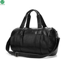high quality men travel bag leather casual men handbag outdoor vintage men shoulder bag Preppy Style men messenger duffel bag(China (Mainland))