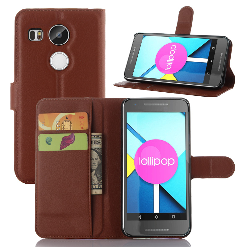 Wallet PU Leather Case for LG Nexus 5X Cover Phone Case for LG Angler Google Nexus 5X 5.2 Inch Cover Case with Stand Card Holder