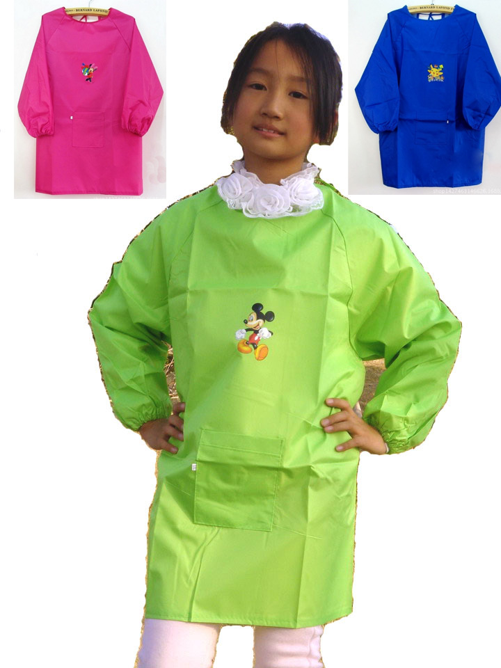 Children's Clothing Painting Long Sleeved Art Apron and Smock Waterproof Anti Kindergarten(China (Mainland))