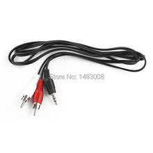 Adapter Cable Cord 3.5mm M/M to AV RCA Audio Y for iPod MP3 High Quality