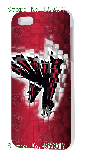 2014 New Arrival HOT New Design 1pcs Hockey Atlanta Falcons Designs Luxury White Hard Case Cover For Iphone5 5s + Free Shipping(China (Mainland))