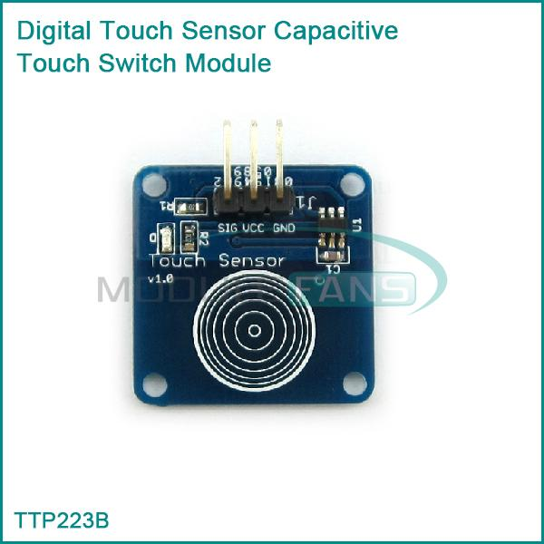 Гаджет  2PCS New TTP223B Digital Touch Sensor Capacitive Touch Switch Module for Arduino None Электронные компоненты и материалы