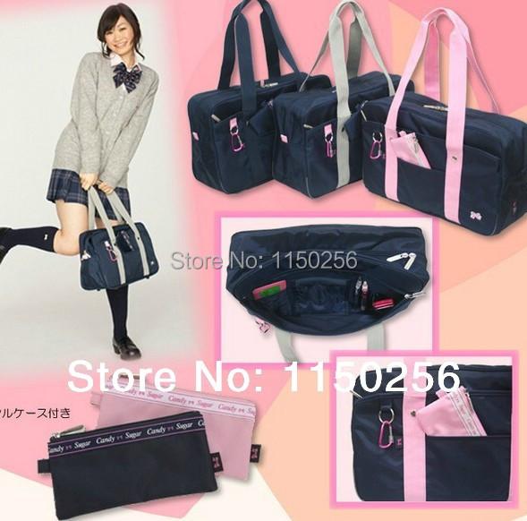 Japanese School Girl Bag Uniform Hangbag Cosplay Shoulder Bag For Kuroko no Basuke K-ON Messenger Bag New(China (Mainland))