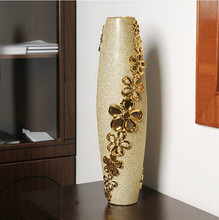 Large vases European-style home decorations Ceramic ornaments crafts Floral material/60 cm high(China (Mainland))