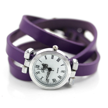 New fashion hot-selling women's long leather female watch ROMA vintage watch women dress watches
