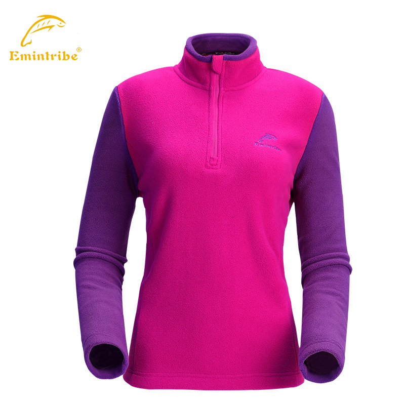 Фотография Women  fleece warm shirt windproof sportwear camping & hiking climbing women