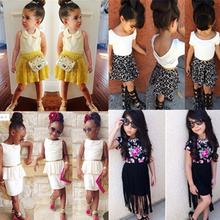 2015 New Girl Fashion Clothing Set Children Summer Casual Clothing Sets Girls Cotton Suit Sets 2015 New Child Clothing(China (Mainland))