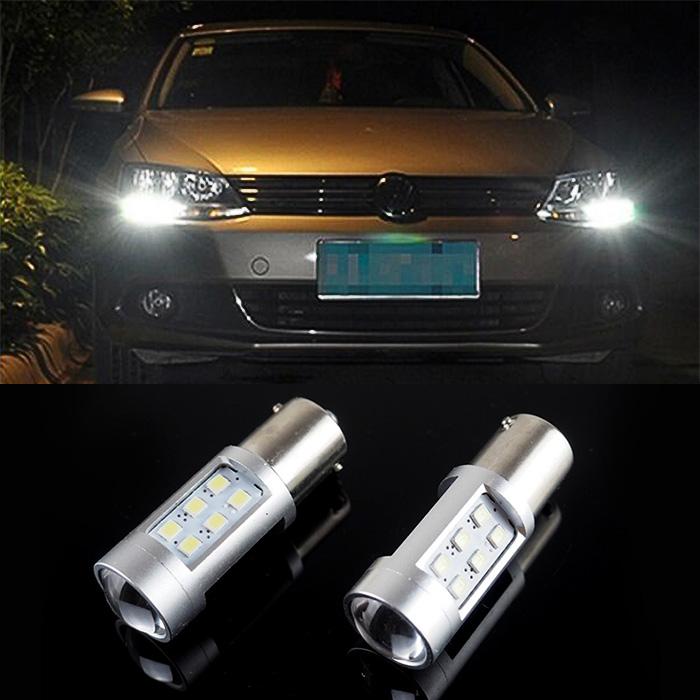 2x Jetta MK6 LED P21W Canbus No Error DRL Driving Daytime Running Light(China (Mainland))
