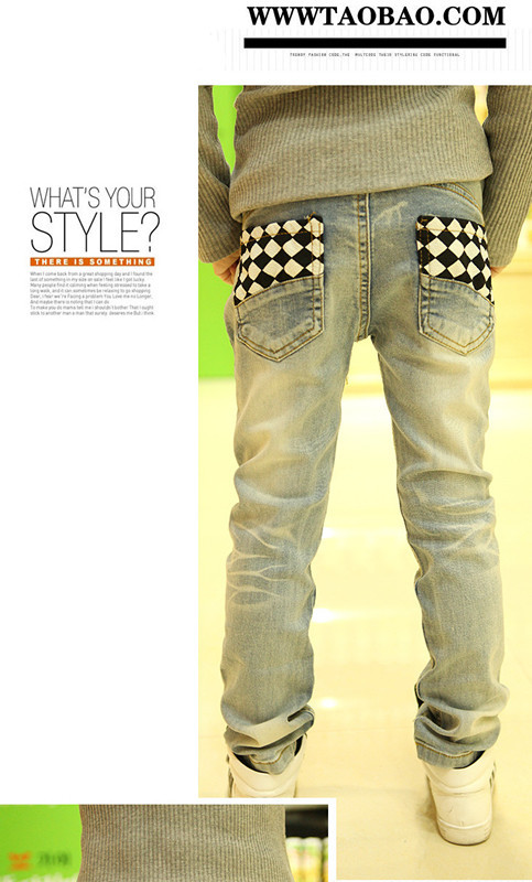 2014 Fall kids New Fashion Kids Designer Boys Jeans 2T-13T(China (Mainland))