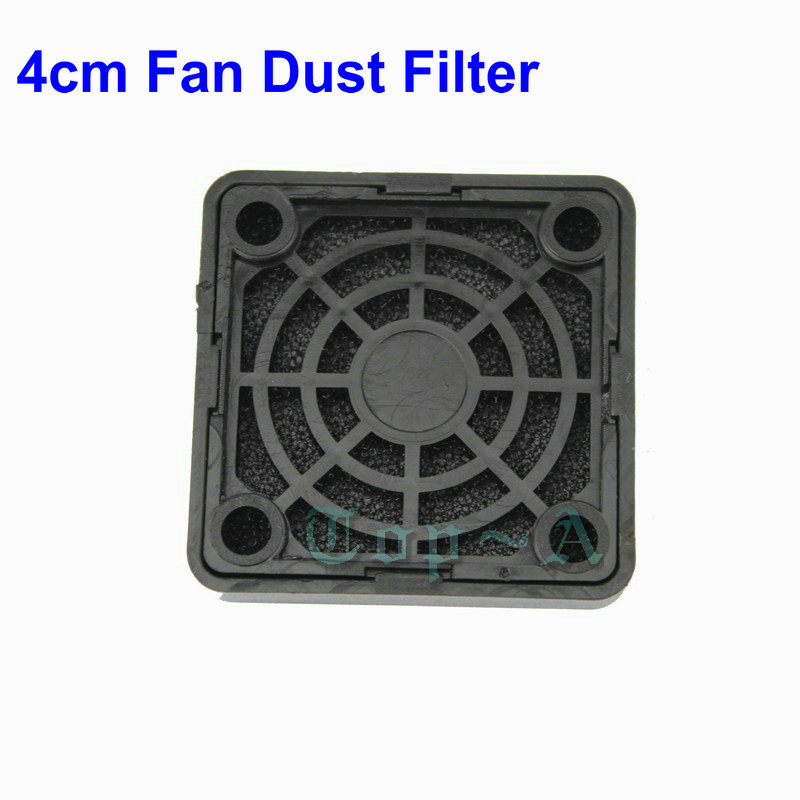 5 Pieces Black PC Fan Dust Filter Plastic Dustproof Computer Case Strainer 40mm x 40mm Free Shipping(China (Mainland))