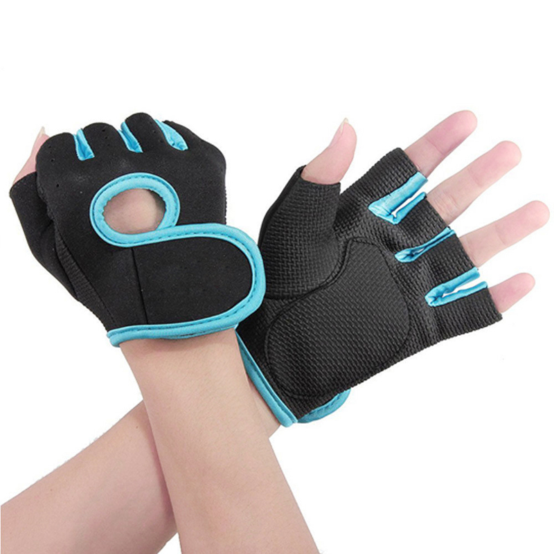 Free Shipping Men&Women Fitness Exercise Workout Weight Lifting Sport Gloves Gym Body Building Training Half Finger Size M(China (Mainland))