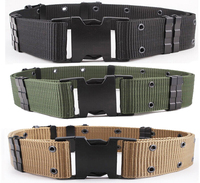 Tactical Military Outdoor Nylon Combat Heavy Duty Web Belt Military Fans Armed S Outer Belt BK/DE/OD