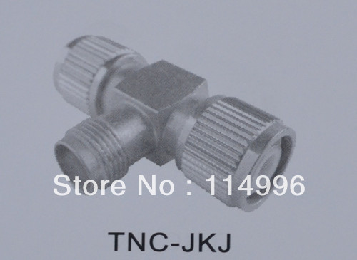 Free shipping TNC-JKJ Nickel plated Threaded Male to Female to Male Adapter Military connector Band wide Reliable connection