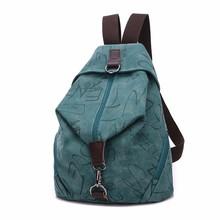 Women Backpack Canvas Shoulder Bags Vintage Preppy Style Brand New Girl College School Bagpack Letter Printed Mochila Rucksack(China (Mainland))