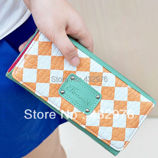 New arrivals fashion women wallets cards holders PU leather lady hand bags money coin purse wholesale clutch wallet(China (Mainland))