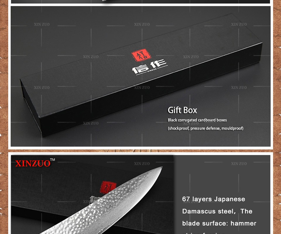 Buy XINZUO 3 pcs Kitchen knives set Japanese Damascus kitchen knife chef cleaver knife kitchen tool Color wood handle free shipping cheap
