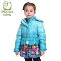 PCORA Kids Down Coat Girls Hooded Jackets Pink Zipper Closure Thin&Light Clothes Duck Down Coat Keep Warm Size 4T~10T Kids Girls