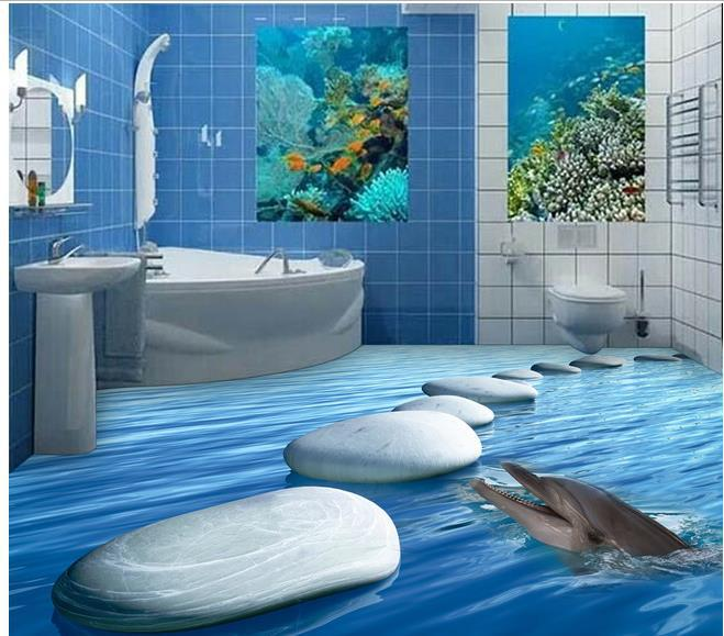 custom photo floor wallpaper 3d stereoscopic 3d ocean. Black Bedroom Furniture Sets. Home Design Ideas