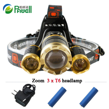 Buy 10000 lumens 3T6 rechargeable led headlamp cree xml t6 head lamp waterproof lights headlight 18650 battery head torch flashlight for $10.89 in AliExpress store
