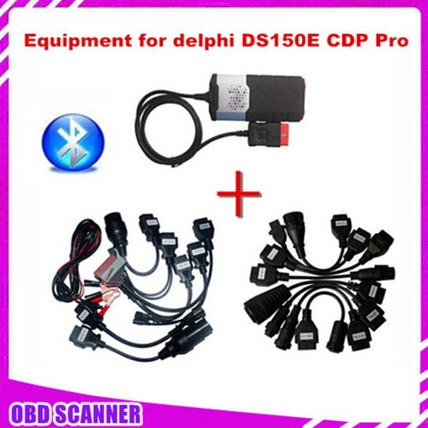 2014.02V version DS150 with bluetooth VCI DiagnosticTool Equipment for delphi DS150E CDP Pro (TWO PCB) plus Cars & Trucks cables(China (Mainland))