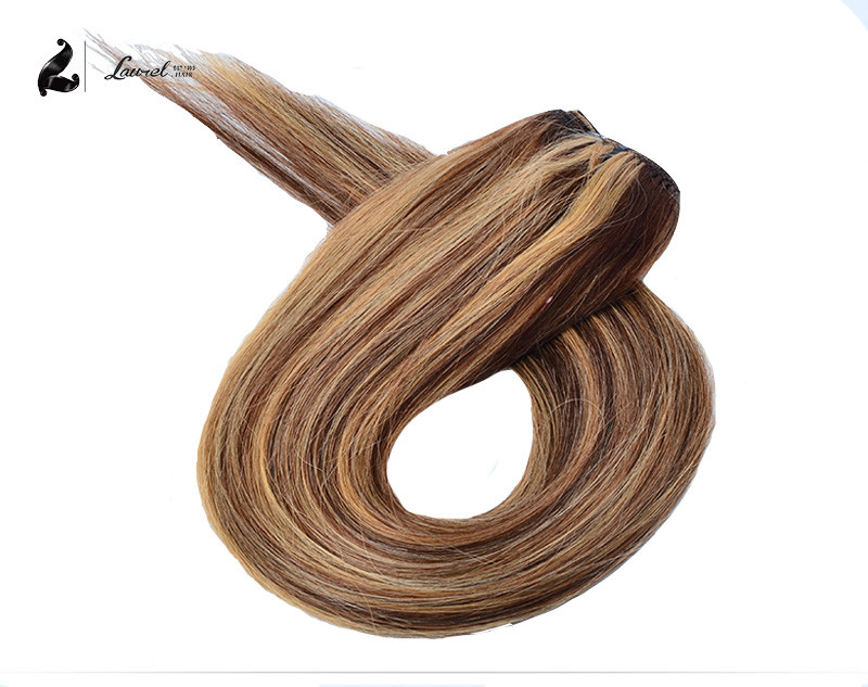 Clip In Human Hair Extensions 100g  P6/613 P27/613 Natural Clip In Hair Extensions 7pcs 100g Full Head Clip In Hair Extensions