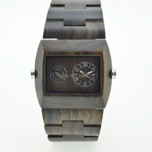 Marca de lujo Natural de madera del reloj para hombre relojes de pulsera japón movimiento de cuarzo boscosas relojes precio venta al por mayor