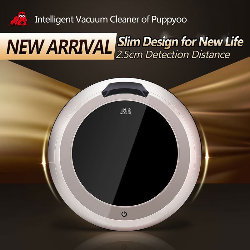PUPPYOO Multifunctional Intelligent Robotic Vacuum Cleaner Self-Charge Home Appliances Vacuum Remote Control Side Brush V-M611()