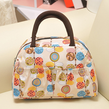 Hot sale Applied Economic women handbag waterproof Polyester picnic bag lunch box bag for kids drop