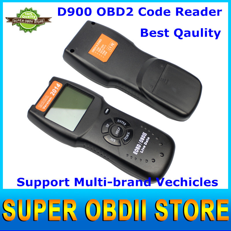 DHL Free D900 Obd2 Scanner Auto Code EOBD Diagnostic Scan Tool Suitable For Almost All Cars After 1996 With Nylon Carry Pouch(China (Mainland))