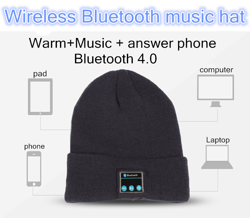 2015 Warm Hat mini Wireless speaker bluetooth receiver amplifier audio music speaker Smart Cap earphone Headphone+Mic for xiaomi(China (Mainland))