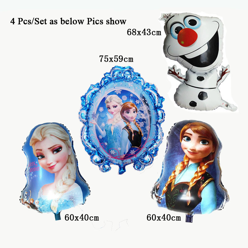 classic toy baloons cheap balonlar birthday decoration party magic mirror elsa anna princess balloons foil helium cheap balloons(China (Mainland))