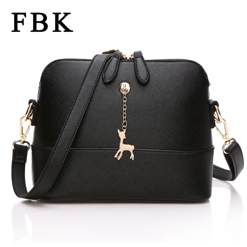 Quality Fashion Style Shell Shape Women Messenger Bags 2016 Casual Small Women Shoulder Bag Women Bag deer decoration Handbag(China (Mainland))