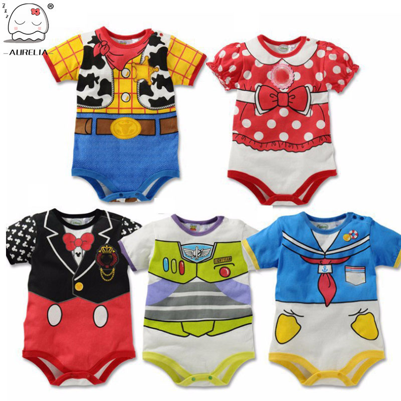 Cartoon Cotton Baby Rompers Summer Short Sleeve Baby Wear Infant Jumpsuit Boys Girls Clothes Roupas De Bebe Infantil