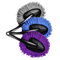 Multifunction Vehicle Auto Car Truck Cleaning Wash Brush Dusting Tool Microfiber Duster Purple(China (Mainland))