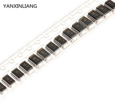 100PCS DIODE M7 1N4007 SMD 1A 1000V Rectifier Diode(China (Mainland))