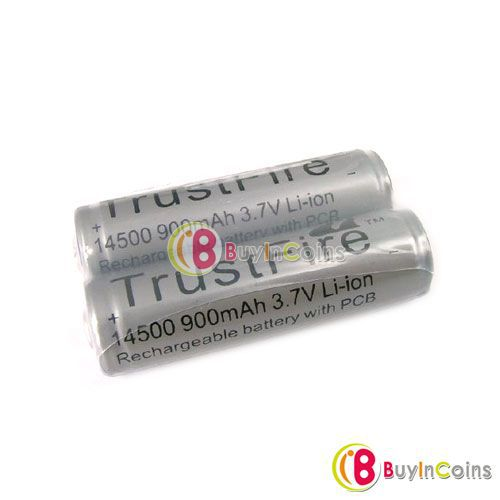 2x TF 14500 AA 3.7V Rechargeable Protected Battery ECOS #219<br><br>Aliexpress