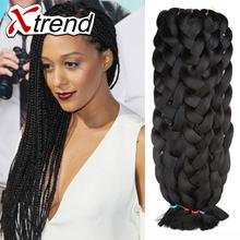 42inch 165g kanekalon braiding hair black kanekalon jumbo braid hair synthetic hair for braiding bulk no attachment(China (Mainland))