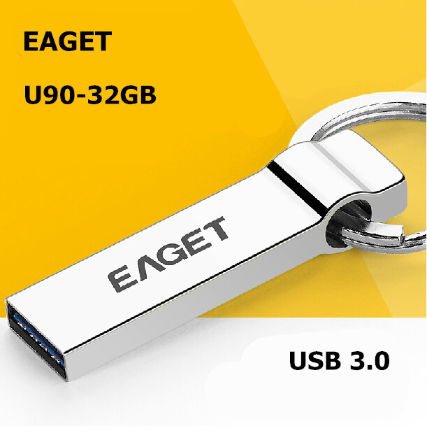 EAGET U90 USB 3.0 100% 32GB usb flash drives pen drive Fashion MINI metal waterproof Gift USB3.0 Free shipping(China (Mainland))