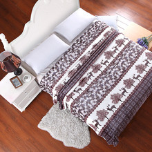 06 cute peacock grey WARM FLORAL LUXURY SOFT FLEECE PLUSH BEDROOM HOME BLANKETS bedlinen a plaid real faux fur fox BLANKET