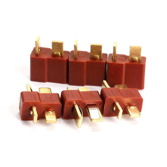 RC Lipo Battery Helicopter 10 Pair T Plug Connectors Male Female for Deans Free Shipping(China (Mainland))